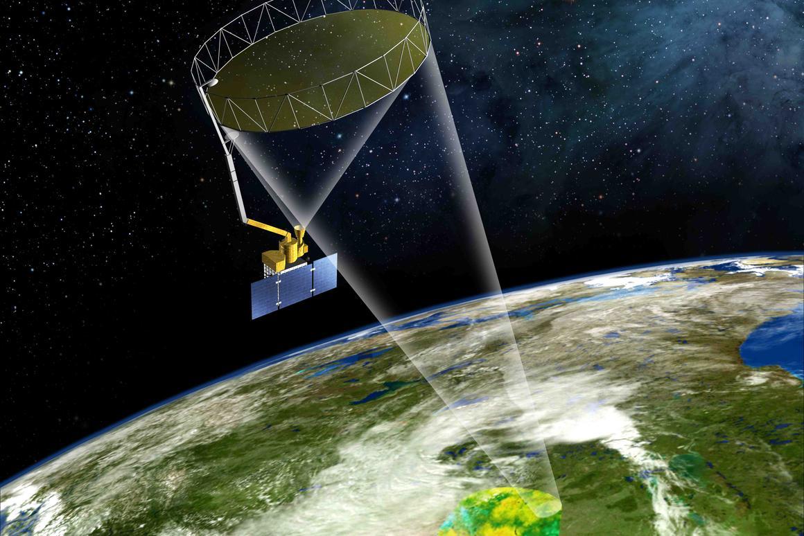 Artist's concept of NASA's SMAP satellite (Image: NASA)