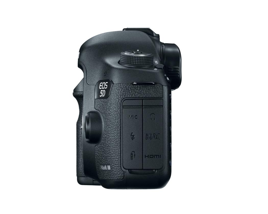 Canon's new EOS 5D Mark III DSLR - side view