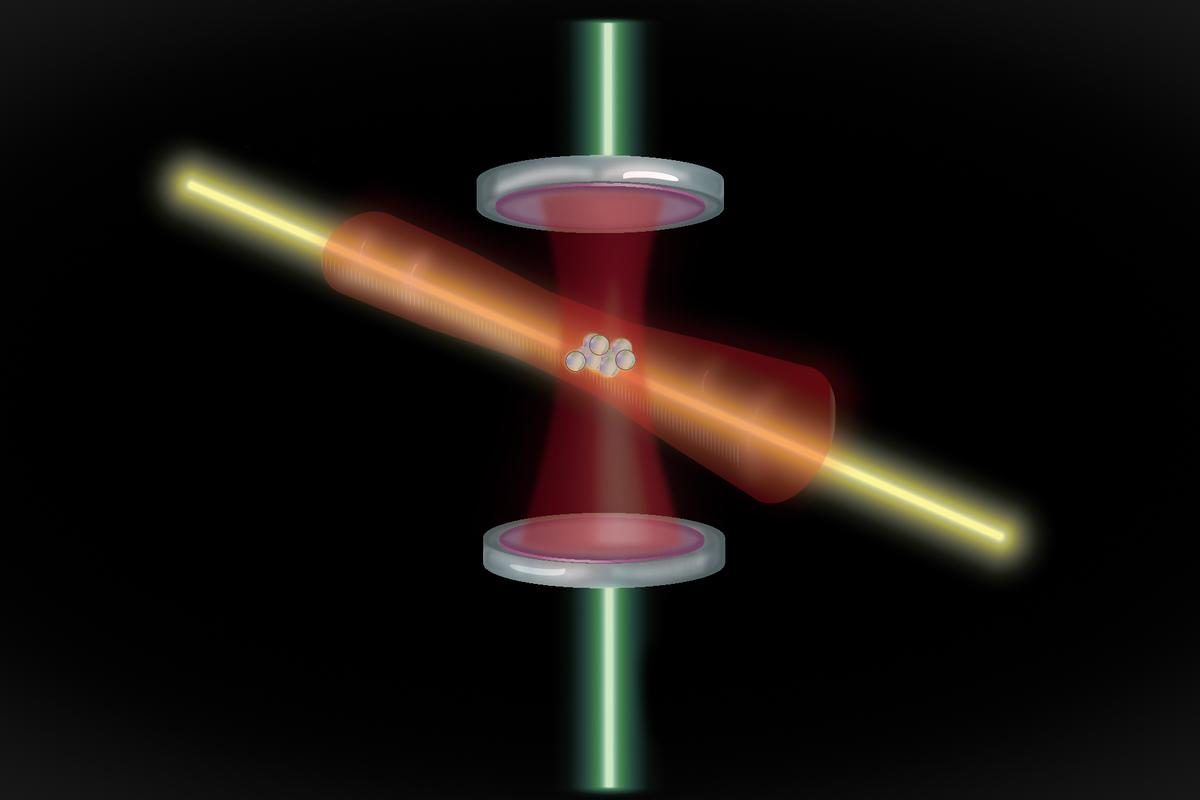 The new atomic clock design uses lasers to trap and measure the oscillation of quantum entangled atoms to keep time more precisely