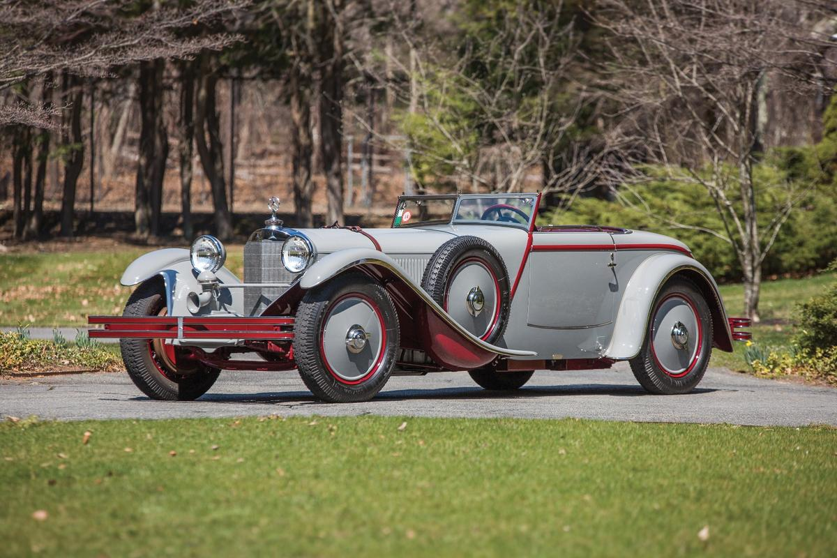 One of thebest known and most impeccably credentialed cars in the world, this 1928 Mercedes-Benz 680 S Torpedo-Sport is already one of thetop 100 most valuable cars in the world,having sold for $8,250,000 during Monterey Car Week in 2013, and it had previously been in the top 100 a decade ago,having sold for $3,645,000 during Monterey Car Week in 2006. The official estimate was €6.5 to €8.0 million (US$7.1 to 8.7 million), but bidding stopped at €5,050,000 and it was passed in.Auction Link