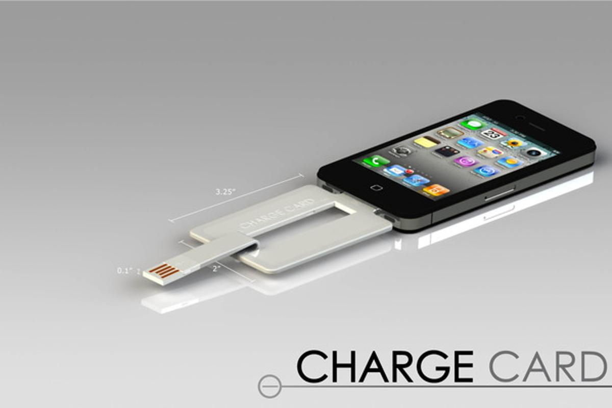 The ChargeCard is small enough to fit in a wallet or purse