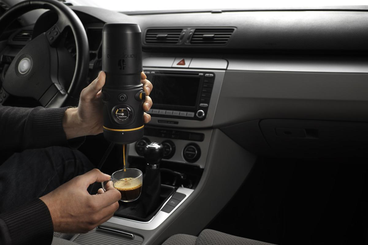Handpresso Auto lets you brew espresso in the comfort of your car