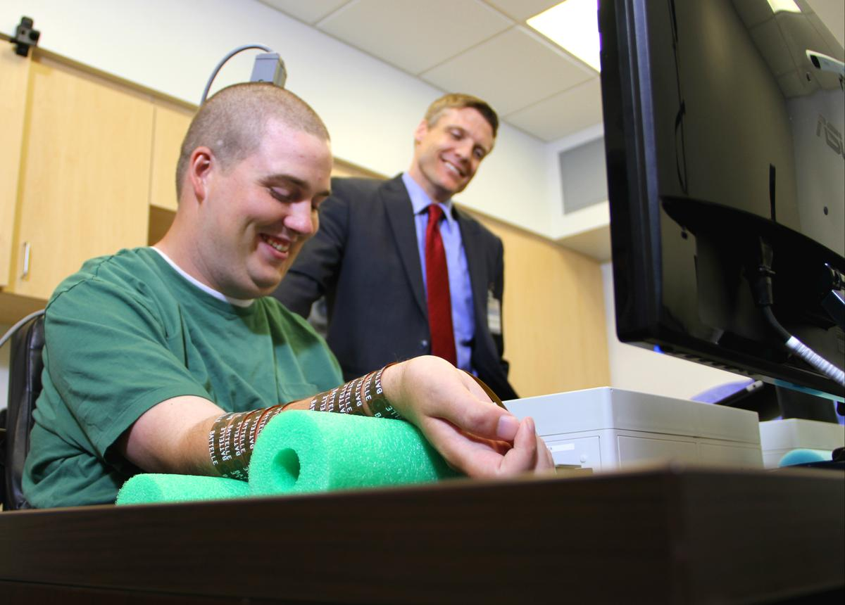 Quadriplegic Ian Burkhart has been given the ability to move his fingers and hand with his own thoughts thanks to Neurobridge technology