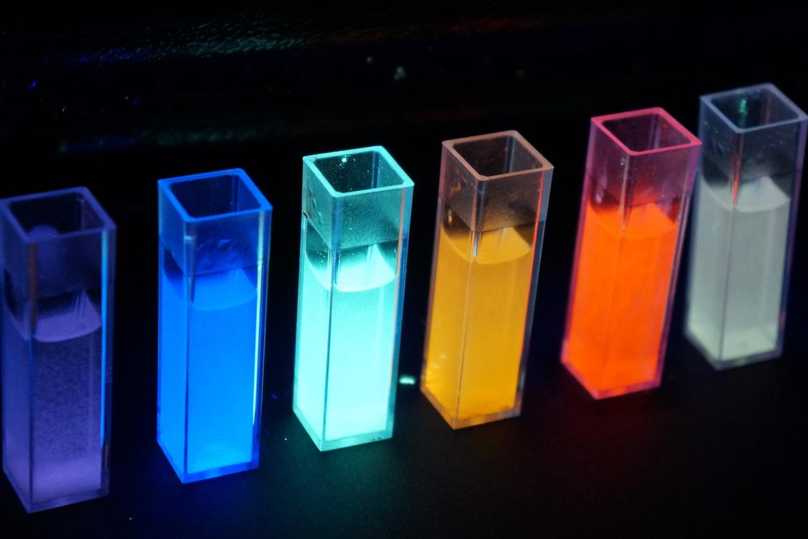 """The new phosphors can be tuned to emit a variety of colors, including a """"warmer"""" white than that of current LEDs"""