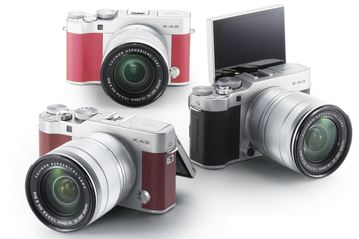 The Fujifilm X-A3 is being marketed on its selfie credentials