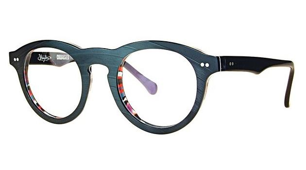 The Corbusier model of Vinylize glasses, made from old records bonded with cellulose acetate