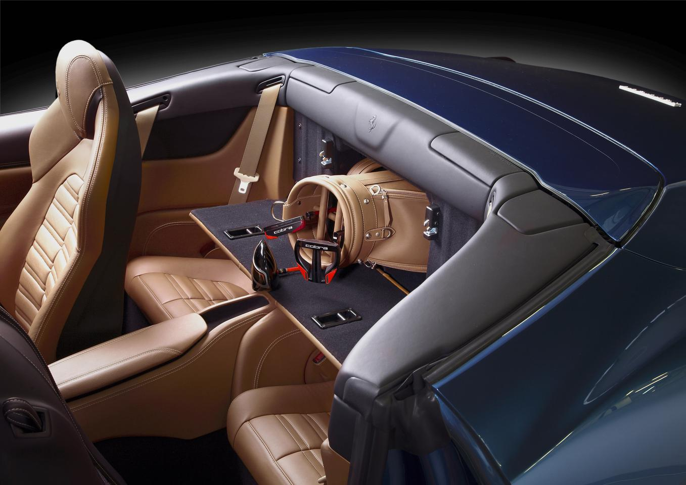 The Ferrari California T's boot can be accessed through the back seats