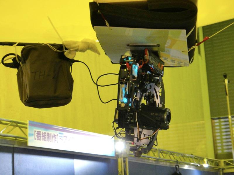 NHK's gyro-stabilized balloon camera rig