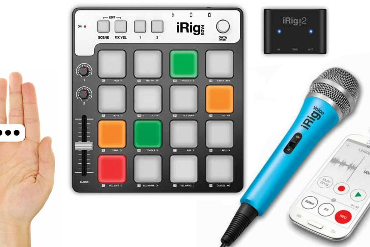 IK Multimedia's 2014 product releases include the iRig PADS controller, the iRing, the iRig Mic Field, and the iRig Voice handheld condenser microphone