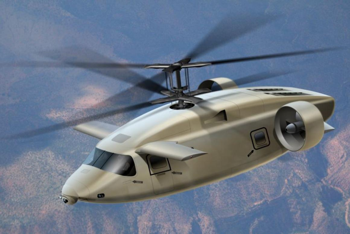 The AVX Aircraft concept has coaxial rotors, ducted fans and a top speed of over 270 mph (435 km/h).