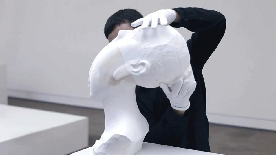 A paper bust with a difference (Image: Dominik Mersch Gallery)