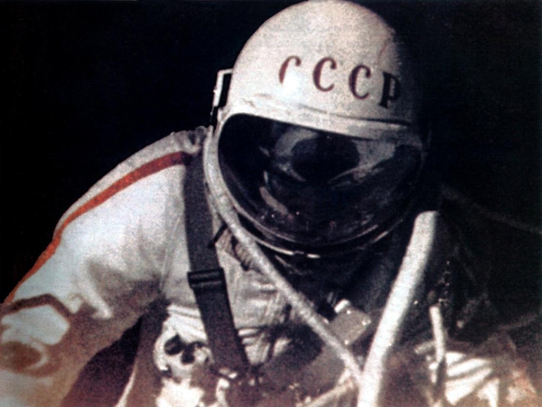 Alexei Leonov as seen by the external camera (Image: Roscosmos)