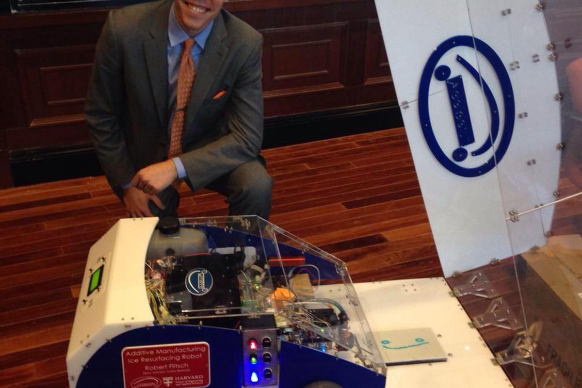 In simple terms, the Addibot is a 3D printer mounted onto a moving robot