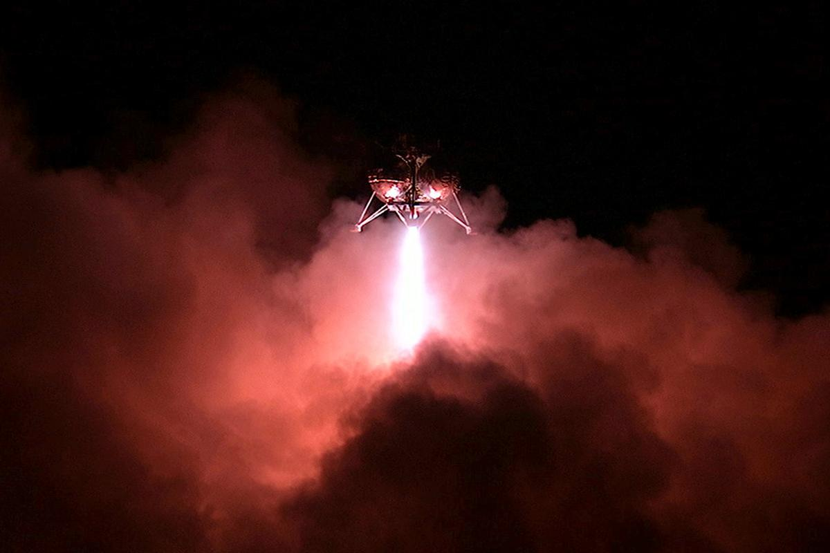 The first night-time flight of the Morpheus lander (Image: NASA)