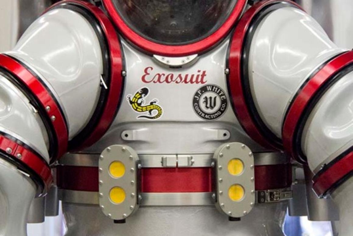 The Exosuit uses a series of rotary joints in order to allow the pilot a high degree of flexibility (Photo: Nuytco Research)