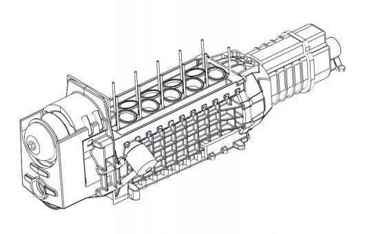 The all-aluminium, ultra-compact, 2110cc V10 engine