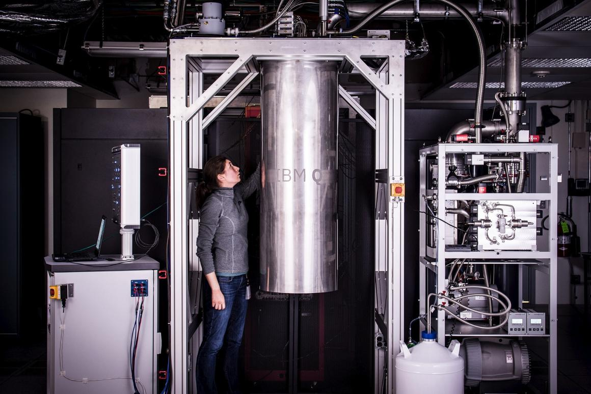 IBM has unveiled its new quantum computer processors, seen here encased in a cryogenic chamber