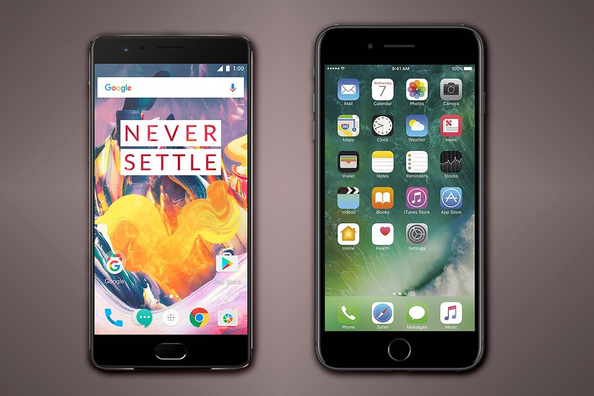 A side-by-side look at the high-value OnePlus 3T and iPhone 7 Plus