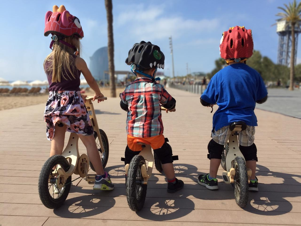The Leg and Go bike is designed to ride as three styles of balance bike, a pedal bike and more