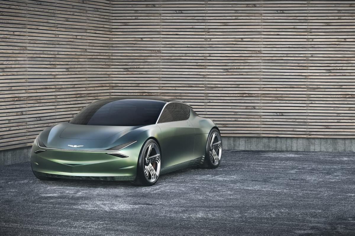 The all-electric Mint Concept from Hyundai's luxury arm, Genesis