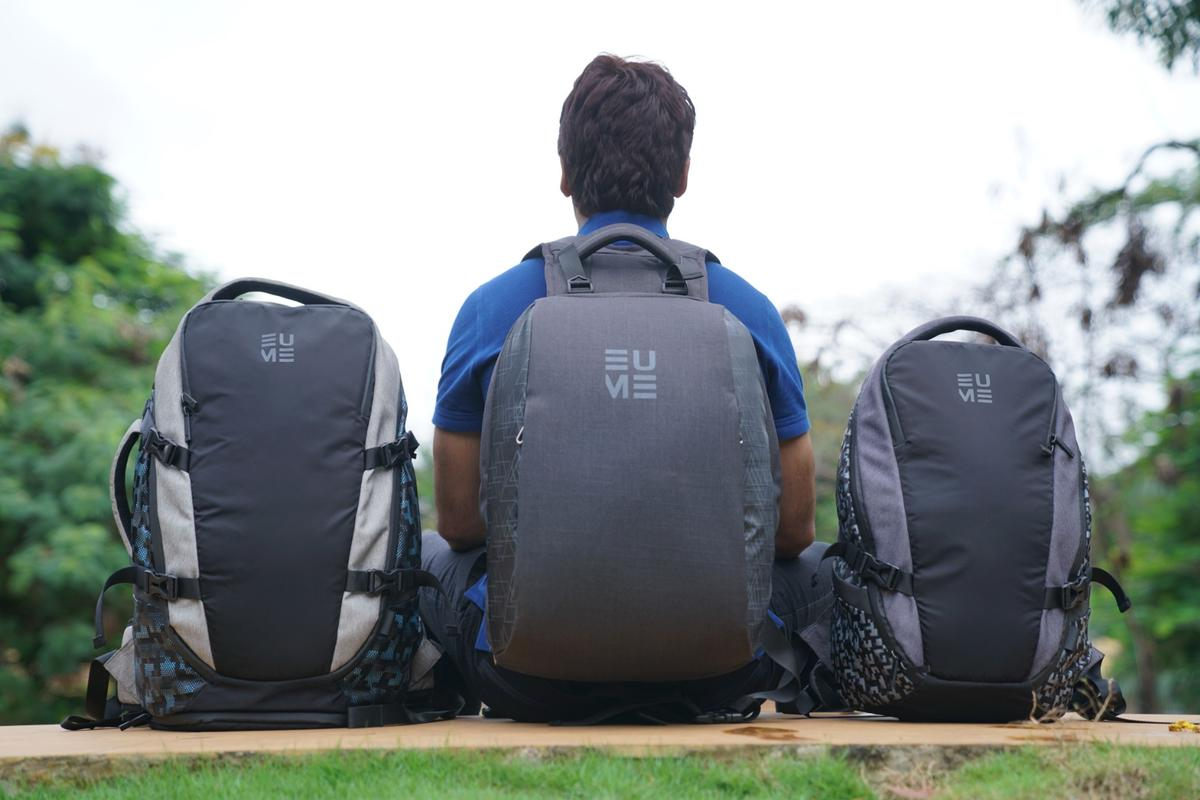 There are three Eume massaging backpacks up on Kickstarter