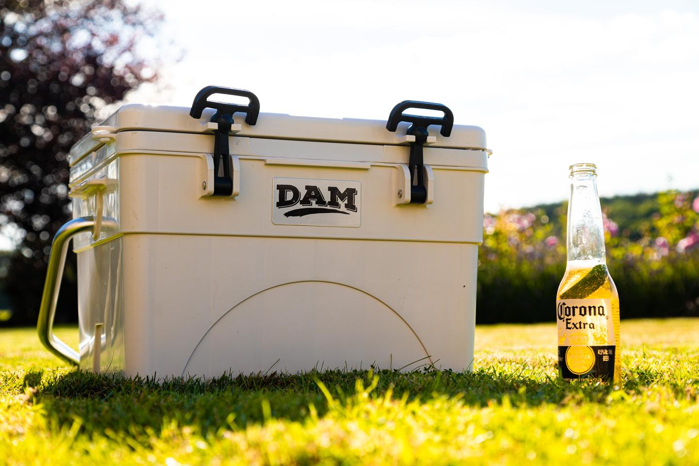 Dam Coolers keep beer on ice for close to a week