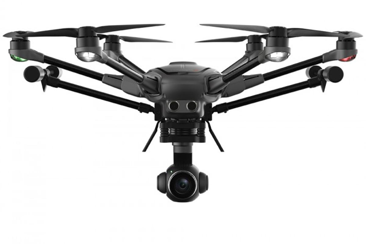 Yuneec's Typhoon H Plus with landing gear up