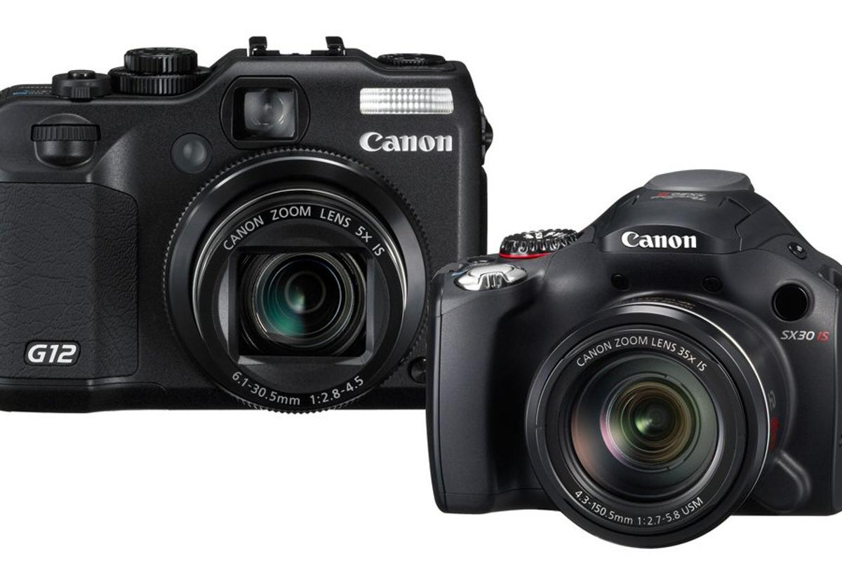 Canon has updated a couple of its PowerShot digital cameras, the G12 and the SX30 IS