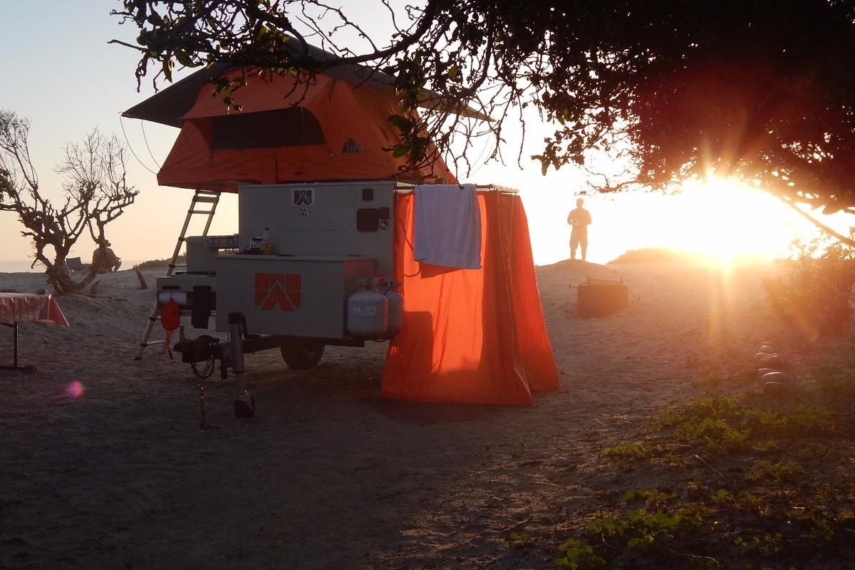 Mobilight offers a variety of options, including an exterior shower, roof-top tent, slide-out kitchen and full water system
