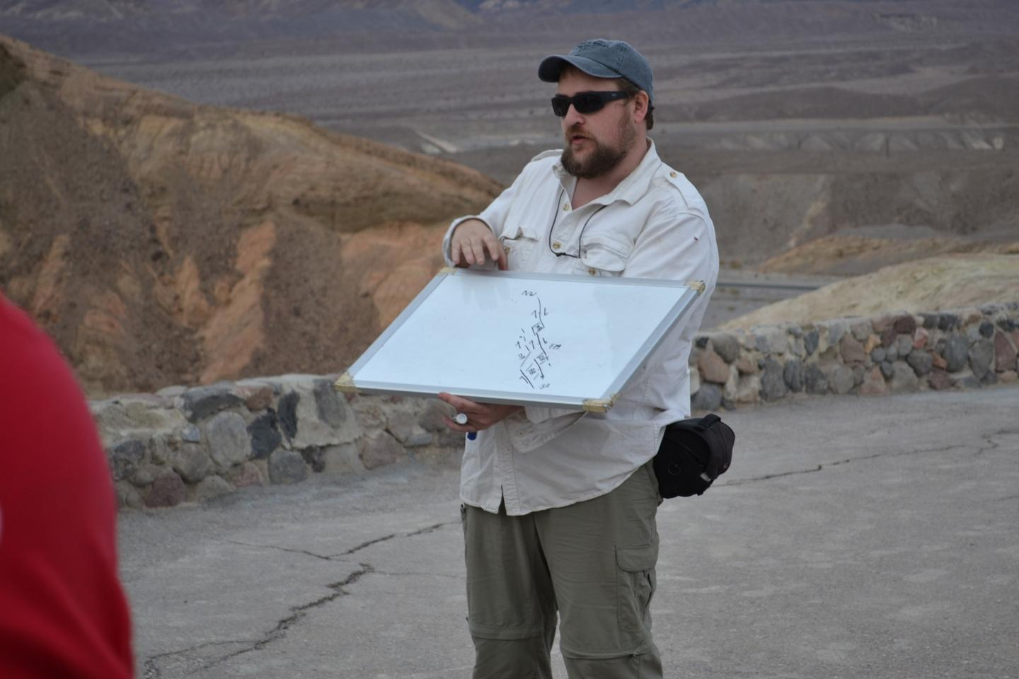 WVU geologist Graham Andrews, part of the team that discovered the Namibian drumlins