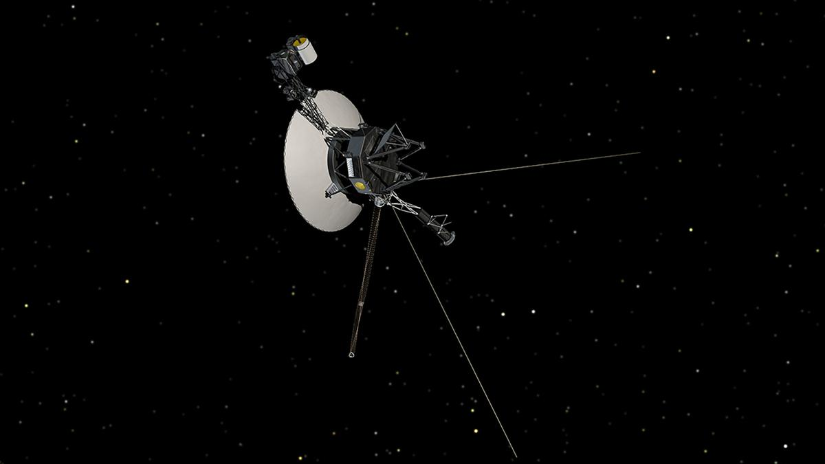 "NASA has released audio containing the sound of the ionized matter around Voyager 1 ""ringing"" as the tsunami passes by (Image: NASA/JPL-Caltech)"