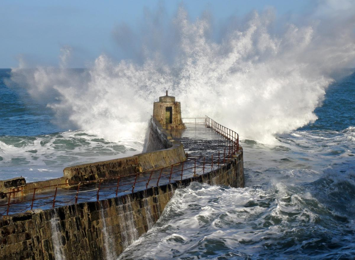 The study examined the energy contained in ocean waves