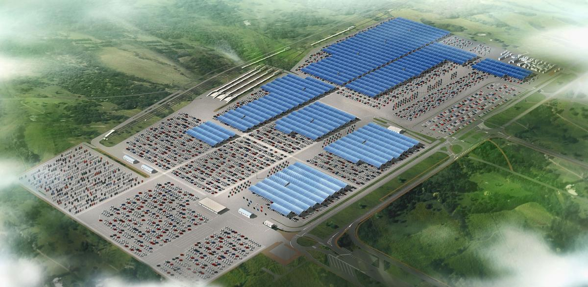 The solar panels on the roofs of Renault's French plants will cover an area equivalent to 63 football fields