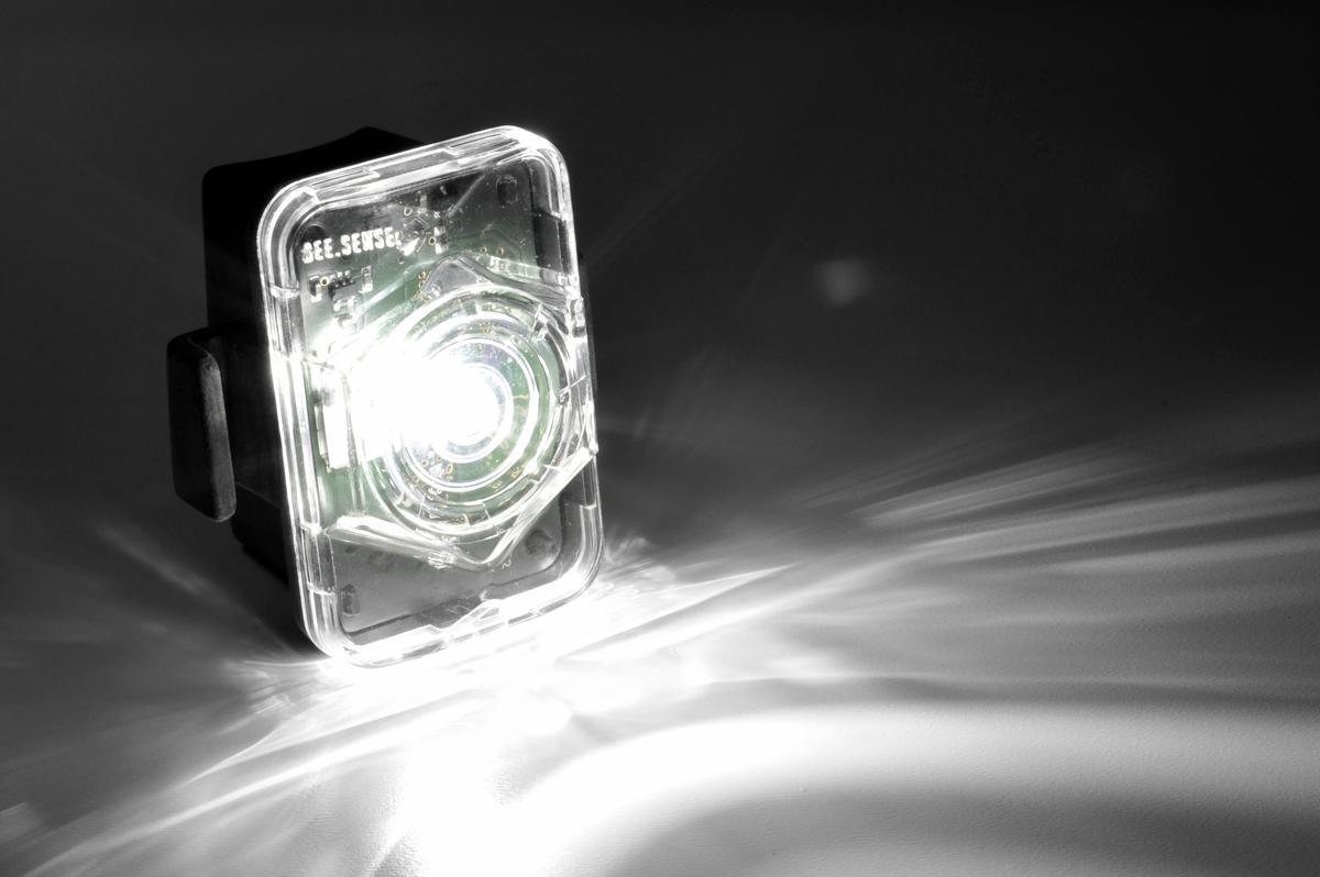 The basic version of the SeeSense headlight puts out 150 lumens