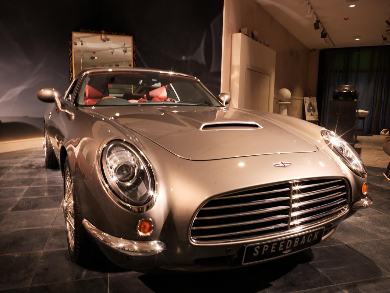 From the nose the Speedback looks like it could have been related to a Maserati, Porsche or Mini Cooper in a past life