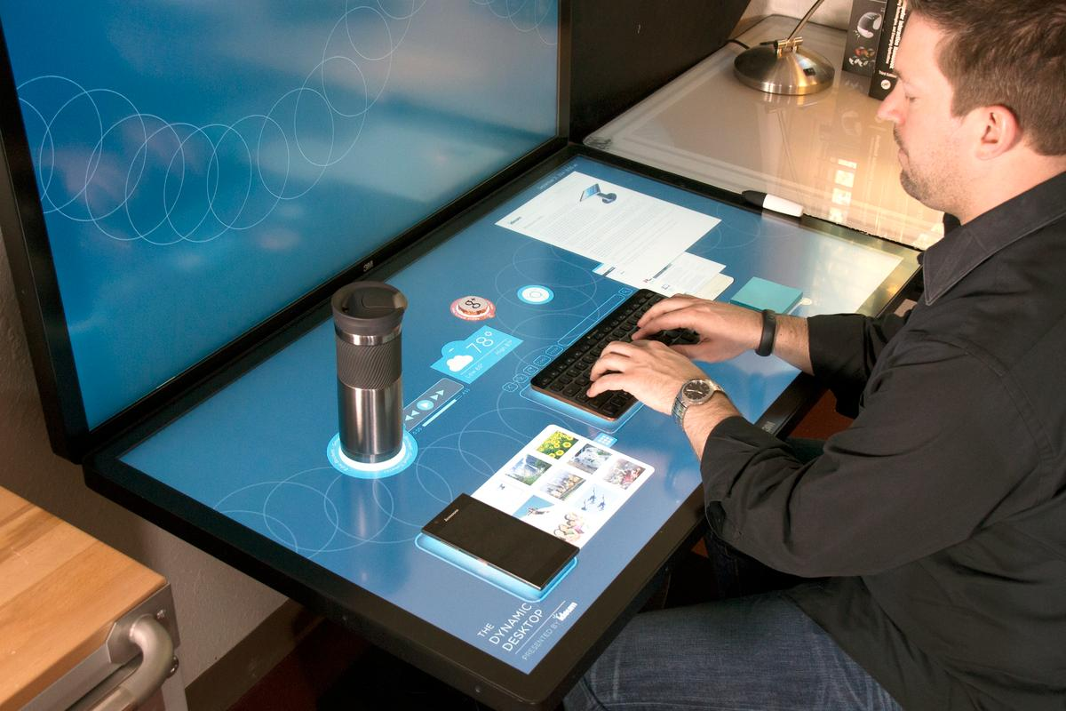Ideum's Dynamic Desktop experimental interface (Photo: Ideum)