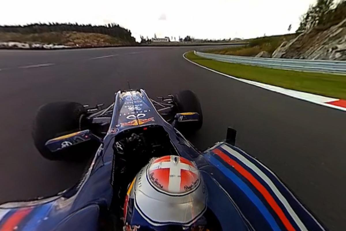Viewers of the ViewCam 360 video from a Red Bull Racing car can change the angle as it plays