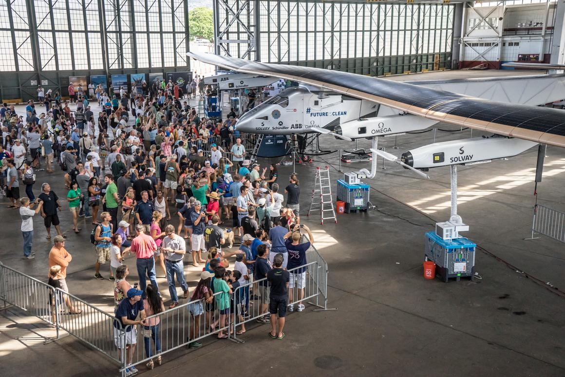 The public was invited to check out the plane in Hawaii