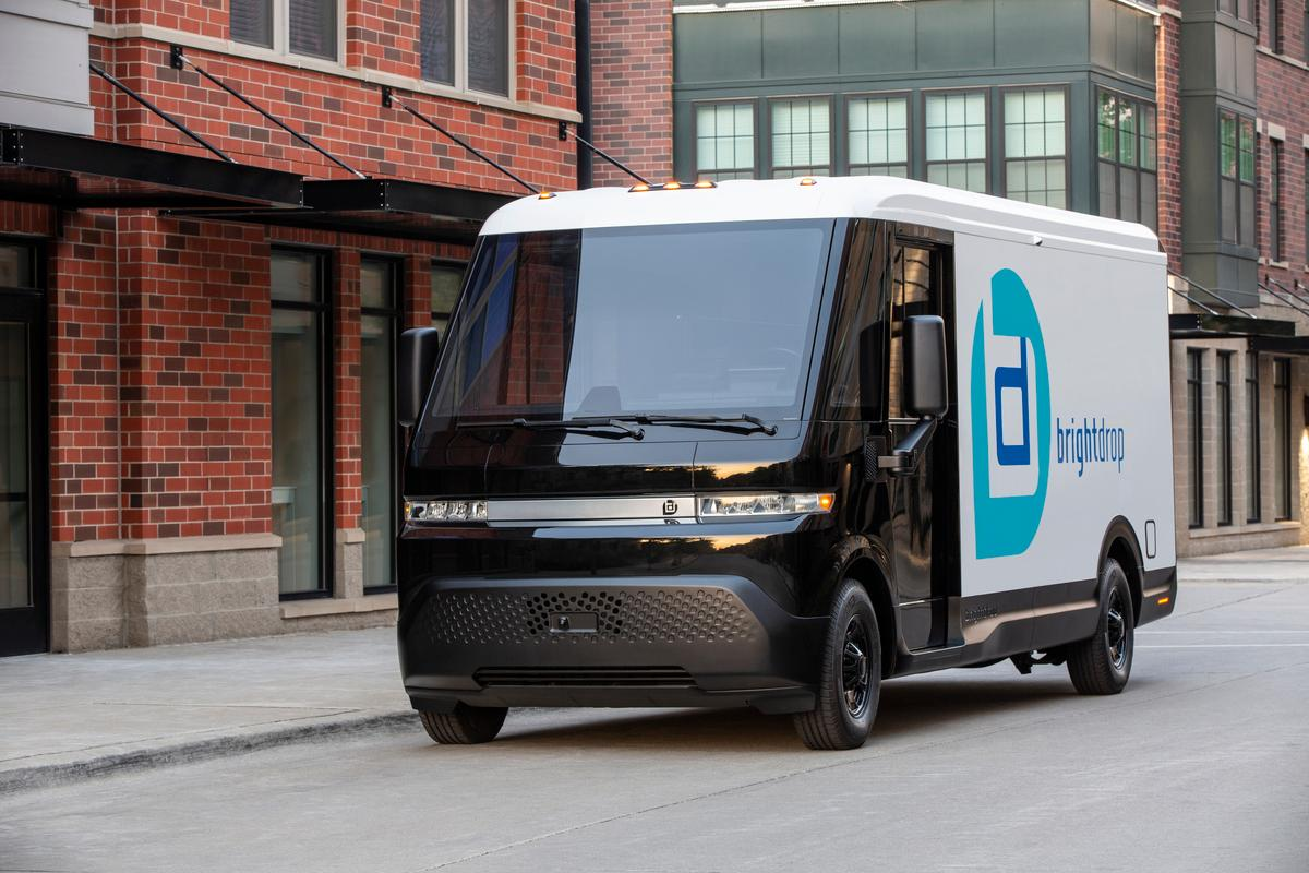 The BrightDrop EV600 is an all-electric light commercial vehicle purpose-built for delivering goods and services up to a 250-mile range