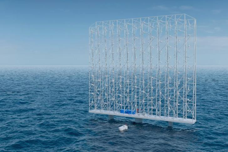 A single Windcatcher floating offshore grid could power 80,000 European homes at grid-parity prices