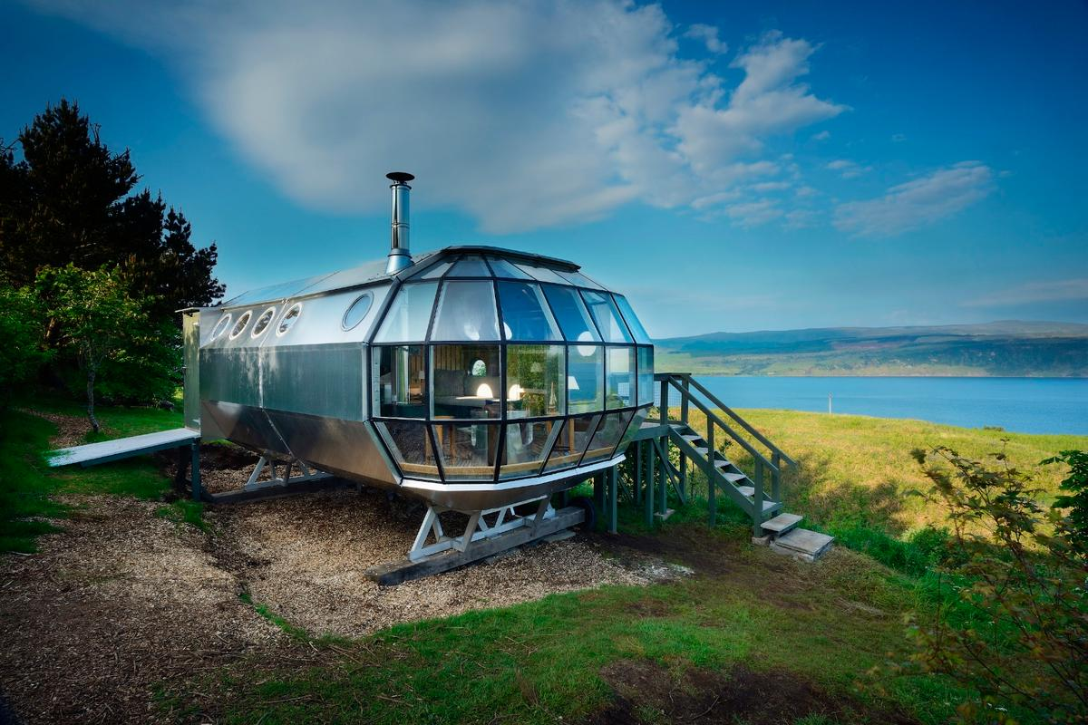 The AirShip 002 is available for rent on Airbnb