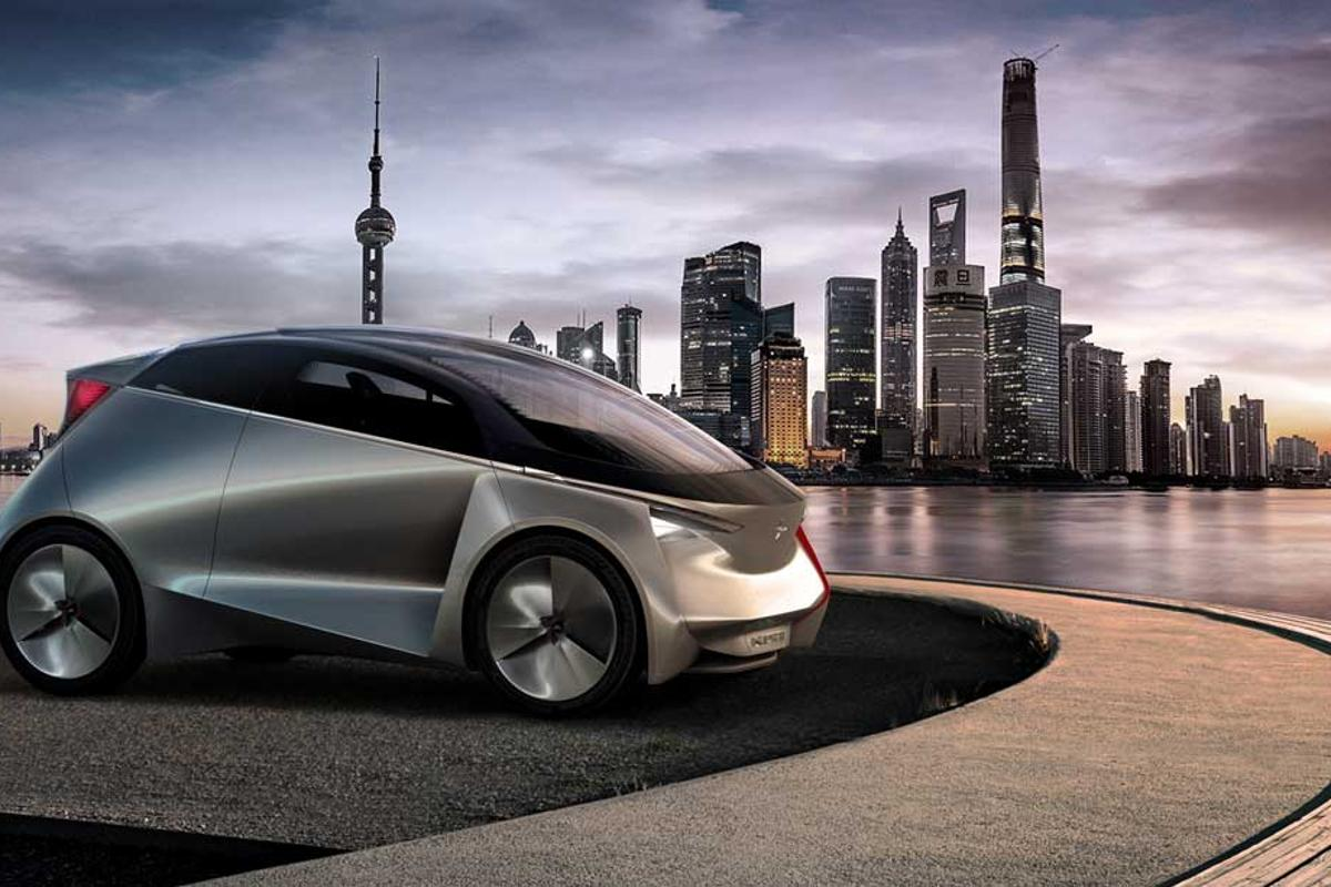 The car has a top speed of 120 km/h (75 mph) and a city-based driving range of 150 km (93 miles)
