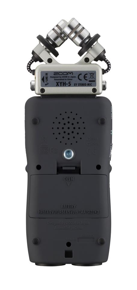 The back of the H5, showing the tripod mount and battery compartment
