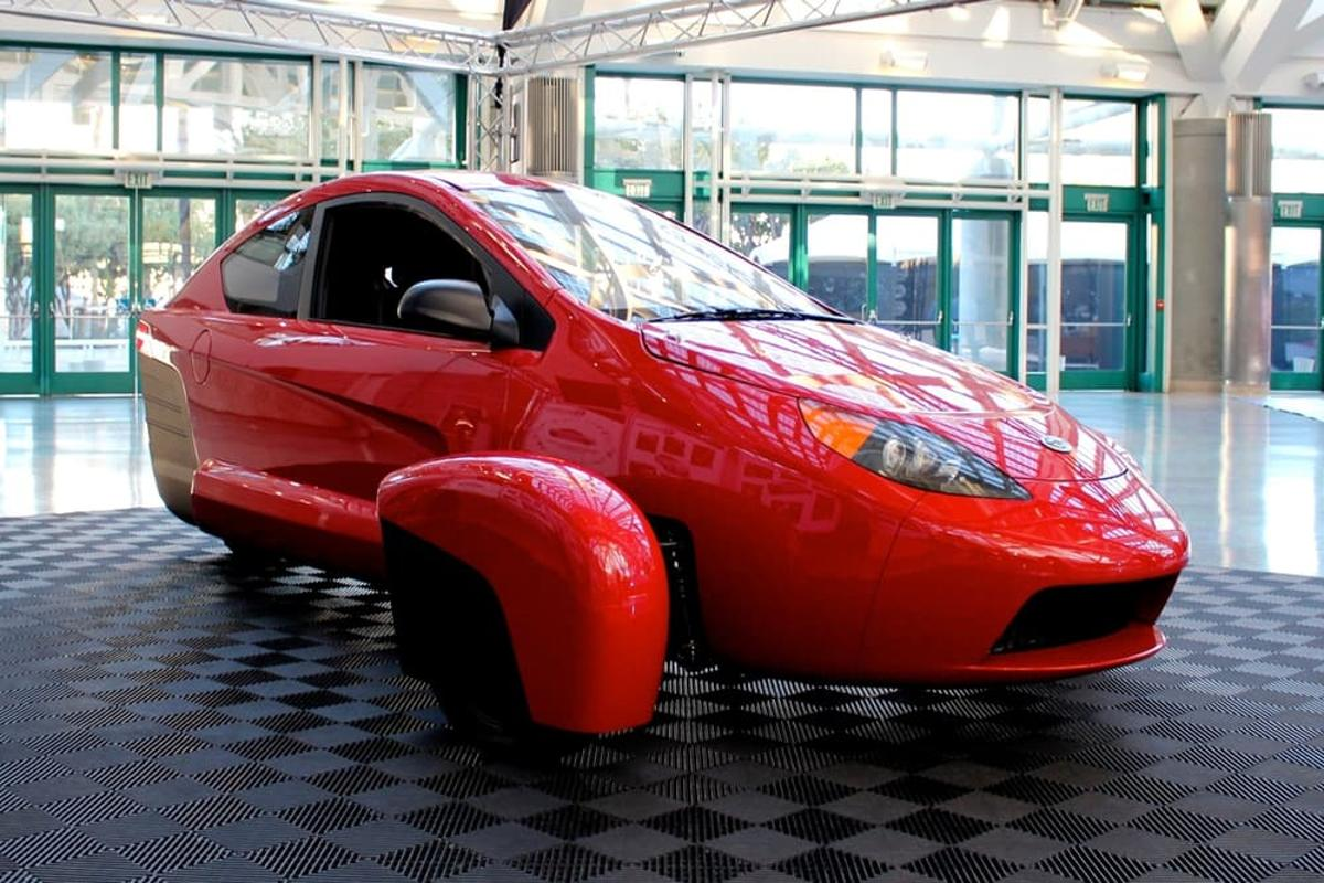 An Elio prototype on display at the LA Auto Show