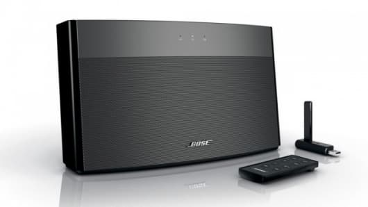 The Bose SoundLink wireless music system