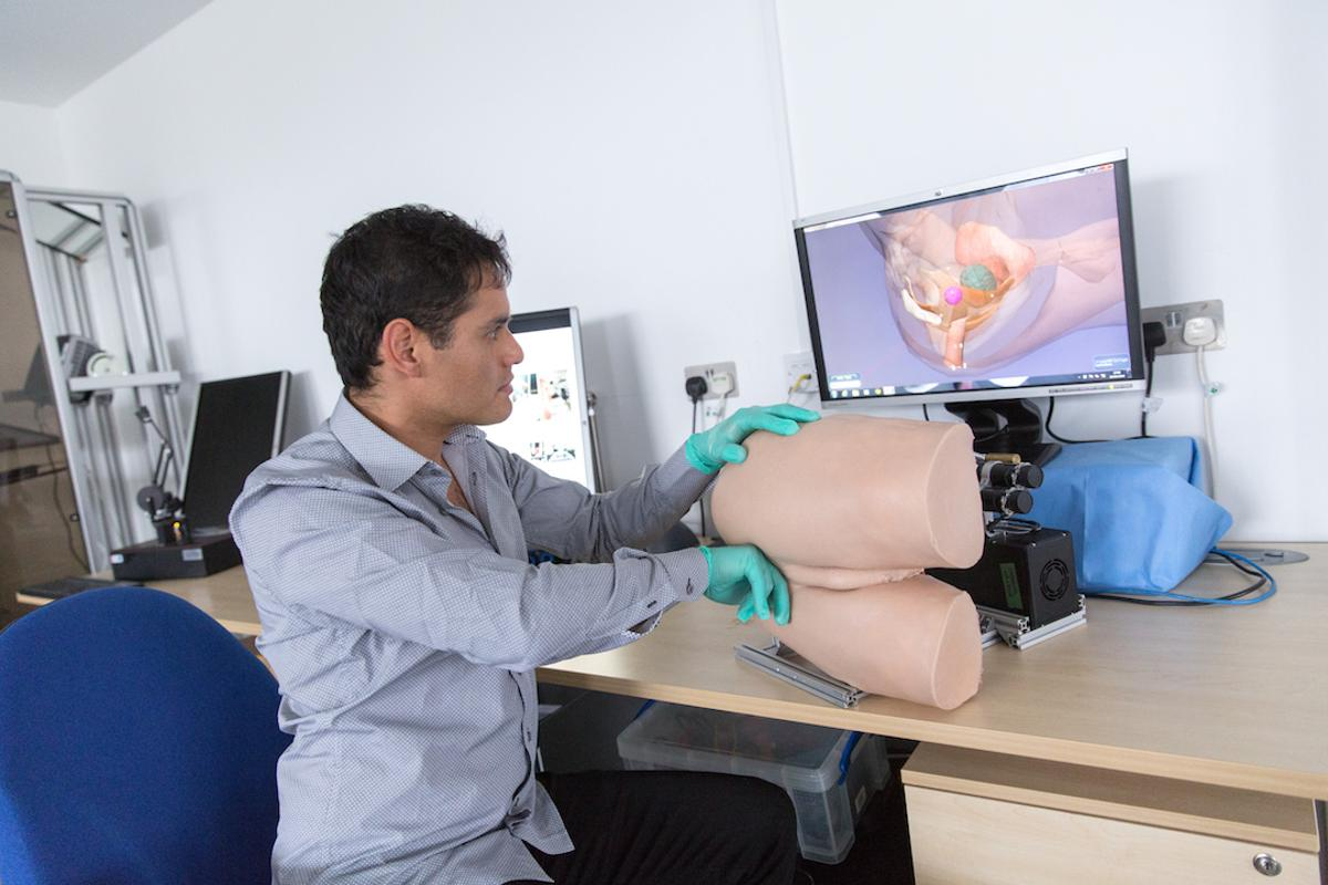 Scientists at Imperial College London have developed a robotic rectum that recreates the feel of the real thing, to aid med students in learning how to conduct prostate exams