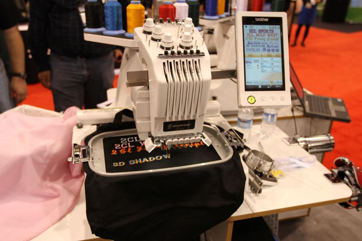 Brother showed-off its Entrepreneur embroidery machine at CES 2010