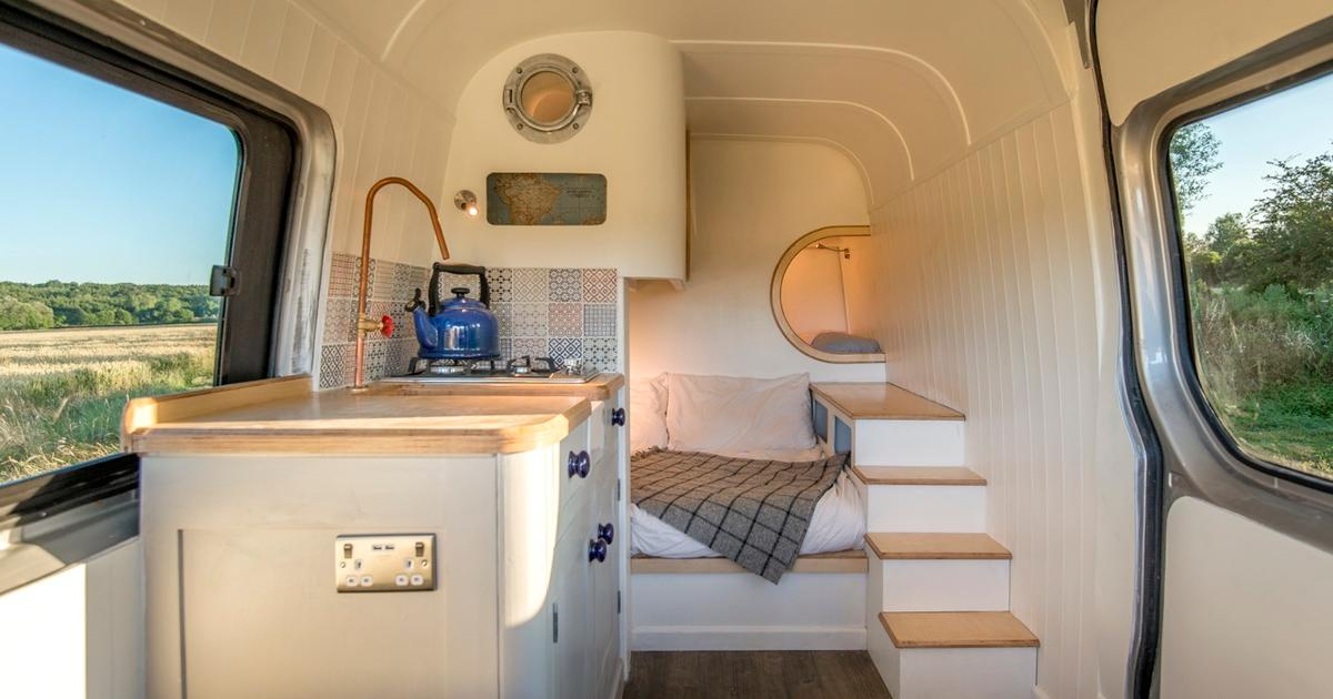 Tiny house expertise put to use in Mercedes Sprinter campervan conversion