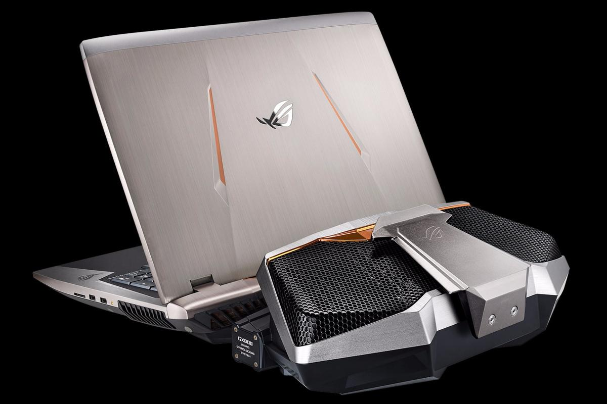 The machine can be plugged into a desk-bound liquid-cooling unit that allows for some serious overclocking