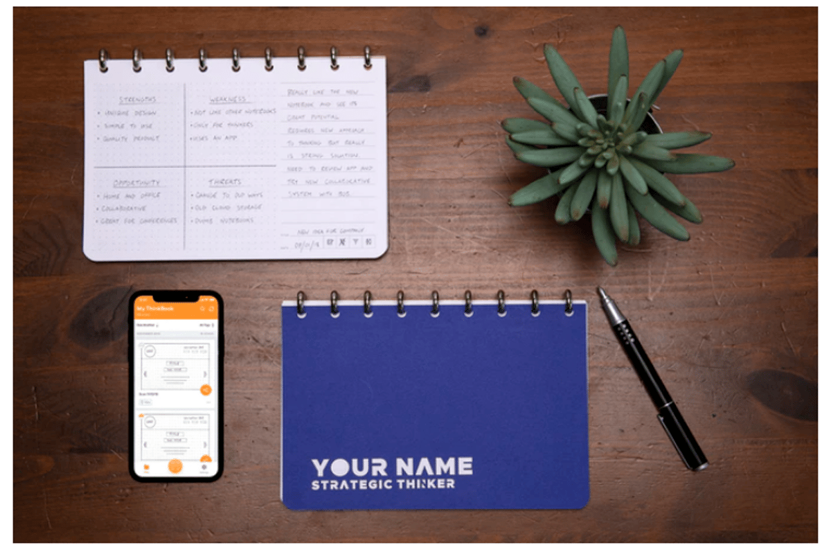 Equipped with a smartphone application, the THINKERS Notebook can actually help you categorize and sort your notes and doodles in the cloud